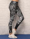 זול קווארץ-בגדי ריקוד נשים סקסית מכנסי יוגה - שחור ספורט הדפס דיגיטלי 3D ספנדקס טייץ רכיבה על אופניים / חותלות ריצה, כושר וספורט, ריקוד לבוש אקטיבי נושם, דחיסה, נוח סטרצ'י (נמתח)