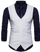 preiswerte Herren-Hosen und Shorts-Männer gehen Arbeitsweste-fester farbiger V-Ausschnitt aus