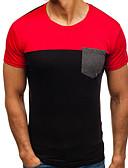 ieftine Maieu & Tricouri Bărbați-Bărbați Tricou Bloc Culoare Plasă