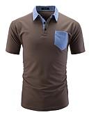 זול חולצות פולו לגברים-אחיד / קולור בלוק Polo - בגדי ריקוד גברים טלאים