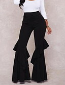 cheap Women's Pants-Women's Chinos Pants - Solid Colored High Waist / Going out