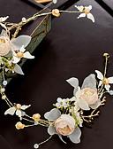 お買い得  ロマンチックレース-合金 フラワー  -  フラワーズ 1個 結婚式 / パーティー かぶと