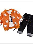 povoljno Kompletići za Za dječake bebe-Dijete Dječaci Aktivan / Osnovni Print Dugih rukava Komplet odjeće / Dijete koje je tek prohodalo