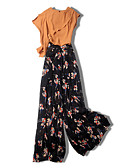 cheap Women's Two Piece Sets-Miss French Women's Blouse - Floral Pant