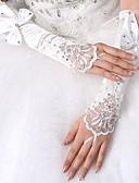 preiswerte Hochzeit Schals-Spandex Ellenbogen Länge Handschuh Vintage Stil / Handschuhe Mit Randverzierung