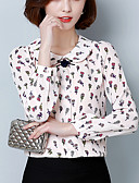 ieftine Bluze & Camisole Femei-Pentru femei Stil Nautic Cămașă Ieșire / Muncă Geometric