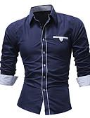 זול חולצות לגברים-אחיד בסיסי חולצה - בגדי ריקוד גברים טלאים