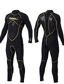 billige Bodysuit-SLINX Herre Heldekkende våtdrakt 3mm SCR Neopren Dykkerdrakter Høy Elastisitet Langermet Glidelås Bak Høst / Sommer