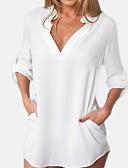 ieftine Tricou-Pentru femei Cămașă De Bază - Mată