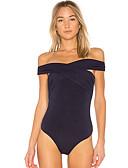 זול חליפת גוף-אחיד סירה רחב ליציאה חליפת גוף - בגדי ריקוד נשים