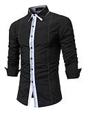 זול חולצות פולו לגברים-קולור בלוק חולצה - בגדי ריקוד גברים טלאים