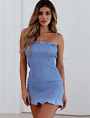 povoljno Ženske haljine-Žene Izlasci Slim Korice Haljina S naramenicama Iznad koljena