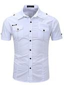 olcso Férfi pólók-férfi kimentő ing - egyszínű, ingszínű gallér