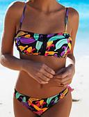 povoljno Bikini i kupaći 2017-Žene Osnovni / Boho Bez naramenica Duga Povez za glavu Cheeky gaćice Bikini Kupaći kostimi - Voće Print S M L / Sexy