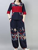 ieftine Costum Damă Două Bucăți-Pentru femei Mâneci Bufante Activ Set - Mată, Pantaloni Franjuri