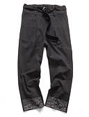 ieftine Pantaloni Bărbați si Pantaloni Scurți-Bărbați Șic Stradă Mărime Plus Size In Pantaloni Chinos Pantaloni - Mată Imprimeu Negru / Primăvară / Toamnă