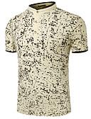 baratos Pólos Masculinas-Homens Polo - Trabalho Geométrica Colarinho de Camisa / Manga Curta