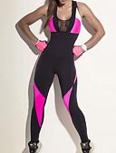 billige Bikinier og damemote 2017-Dame See Through Jumpsuit - Svart sport Leggings Løp, Trening Sportsklær Pusteevne, Bekvem Elastisk