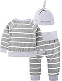 ieftine Baby Boys' One-Piece-Bebelus Băieți De Bază Dungi Manșon Lung Bumbac Set Îmbrăcăminte / Copil