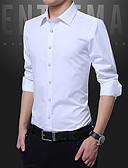 povoljno Muške košulje-Majica Muškarci - Posao Rad Jednobojni / Dugih rukava