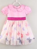 זול שמלות לתינוקות-שמלה כותנה עד הברך שרוולים קצרים טלאים טלאים פעיל בנות תִינוֹק / פעוטות