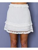 povoljno Ženske suknje-Žene A kroj Pamuk Suknje - Jednobojni Rese / Slim