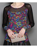 povoljno Majica s rukavima-Majica s rukavima Žene - Osnovni / Ulični šik Dnevno Cvjetni print Print