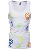 cheap Men's Underwear & Socks-Men's Basic Tank Top - Geometric / Color Block Print