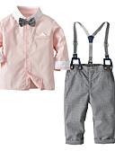 povoljno Haljine za djevojčice-Dijete Dječaci Ležerne prilike / Aktivan Dnevno / Praznik Jednobojni / Color block Print Dugih rukava Regularna Normalne dužine Pamuk / Poliester Komplet odjeće Blushing Pink 100