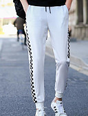 ieftine Pantaloni Bărbați si Pantaloni Scurți-Bărbați Vintage Pantaloni Chinos / Pantaloni Sport Pantaloni Bloc Culoare