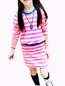 povoljno Haljine za djevojčice-Djeca Djevojčice Osnovni Jednobojni Dugih rukava Haljina