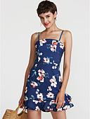 preiswerte Damen Kleider-Damen Festtage Street Schick Bodycon Kleid Blumen Übers Knie Gurt