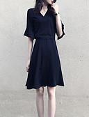 povoljno Ženske haljine-Žene Slim Little Black Haljina V izrez Iznad koljena