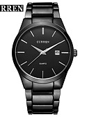 cheap Dress Watches-CURREN Men's Dress Watch Bracelet Watch Quartz Water Resistant / Water Proof Calendar / date / day New Design Alloy Band Analog Casual Fashion Black / White - Silver / Black Black / White Silvery