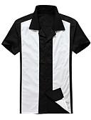 זול חולצות פולו לגברים-חולצת גברים - צווארון לחולצת צווארון צבע