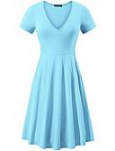 olcso Örömanya ruhák-Női Alap Vékony Hüvely Ruha Egyszínű Midi V-alakú