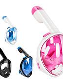 baratos Roupas de Mergulho & Camisas de Proteção-Máscaras de mergulho Anti-Nevoeiro, Máscaras Faciais, 180 Graus Janela Única - Natação, Mergulho, Snorkeling silica Gel, ABS + PC - para Infantil Rosa claro / Azul / branco / Azul / Preto