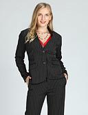 cheap Women's Blazers-Suzanne Betro Women's Vintage / Basic Jacket - Striped