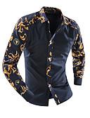 abordables Camisas de Hombre-Hombre Básico Estampado Camisa Floral