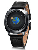 hesapli Elbise Saat-Erkek Elbise Saat Bilek Saati Japonca Quartz Gerçek Deri Siyah 50 m Yaratıcı Havalı Analog Klasik Günlük Moda - Siyah Bir yıl Pil Ömrü / Paslanmaz Çelik