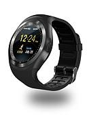 baratos Smartwatches-Relógio inteligente Y1 para Android iOS Bluetooth Esportivo Impermeável Tela de toque Calorias Queimadas Suspensão Longa Podômetro Aviso de Chamada Monitor de Atividade Lembrete sedentária