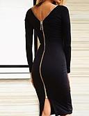 tanie Sukienki sylwestrowe-Damskie Bawełna Rurki Spodnie - Solidne kolory Odkryte plecy Czarny / Dekolt w kształcie litery U / Święto / Kij / Super seksowny