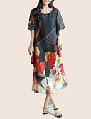 cheap Women's Dresses-Women's Basic Petal Sleeves Shift Dress - Floral