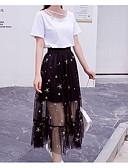 povoljno Bluza-Žene Veći konfekcijski brojevi Puff rukav  Pamuk Vintage Set - Jednobojni, Rese Suknja