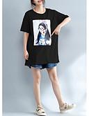 ieftine Bluză-Pentru femei Mărime Plus Size Tricou Bumbac Portret