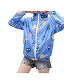 זול Jackets-אחיד / גיאומטרי ג'קט - בגדי ריקוד נשים, דפוס