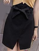 tanie Damska spódnica-Damskie Puszysta Podstawowy Bodycon Spódnice Solidne kolory
