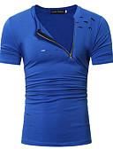 ieftine Maieu & Tricouri Bărbați-Bărbați Rotund Tricou Șic Stradă - Mată / Manșon scurt