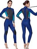 ieftine Lenjerie la Modă-Pentru femei Neopren Întreg 3mm Costume de scafandru Design Anatomic Manșon Lung Toamnă / Primăvară / Vară