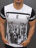 ieftine Maieu & Tricouri Bărbați-Bărbați Tricou Activ / Exagerat - Scrisă Imprimeu